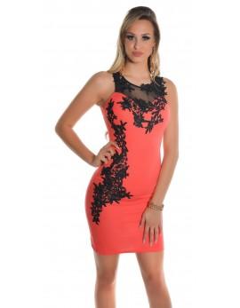 Obleka Anja, koralna