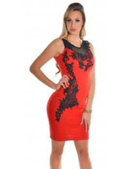 Obleka Anja, rdeča