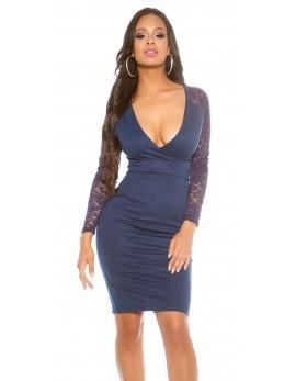 Obleka Mirena, temno modra