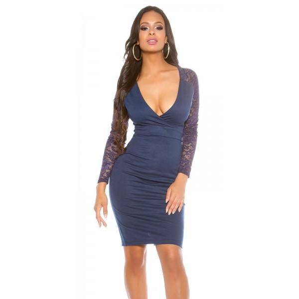Obleka Mirena, temno modra, velikost M