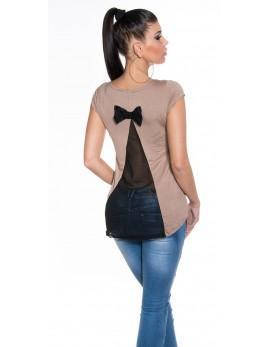 Poletna tunika Back Bow, cappucino, velikost XL