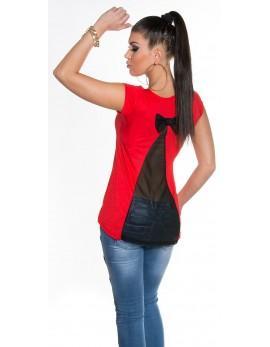 Poletna tunika Back Bow, rdeča
