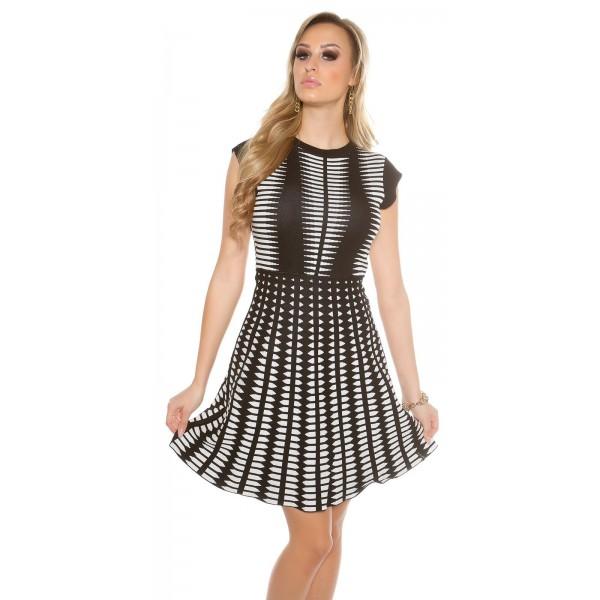 Oblekica Karo, črno-bež kombinacija