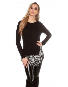Majica 2v1, zebra