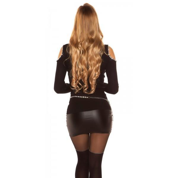 Pulover Perlice, črn